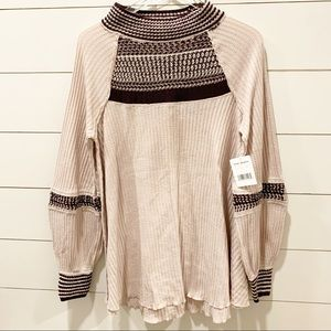 FREE PEOPLE Moon Sand Show Day Thermal NWT Tunic